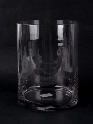Florero de Cristal Transparente