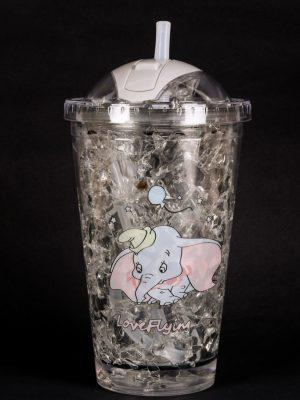 Vaso de Doble Capa Refrigerante en Color Gris