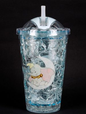 Vaso de Doble Capa Refrigerante en Color Celeste