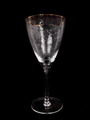 Copa de Cristal con Borde Dorado