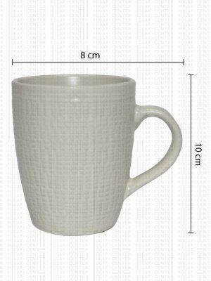 Taza con Textura Semi Tallada