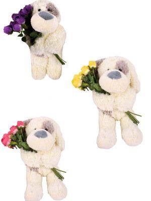Oso de Perro con Flor