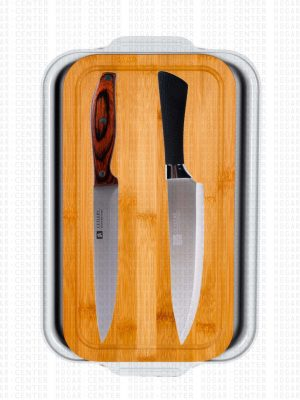 Diana & Doménico – Set de Cuchillos con Tabla de Bambú