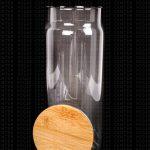Nathalia & Jorge – Frasco de Vidrio con Tapa de Bambú